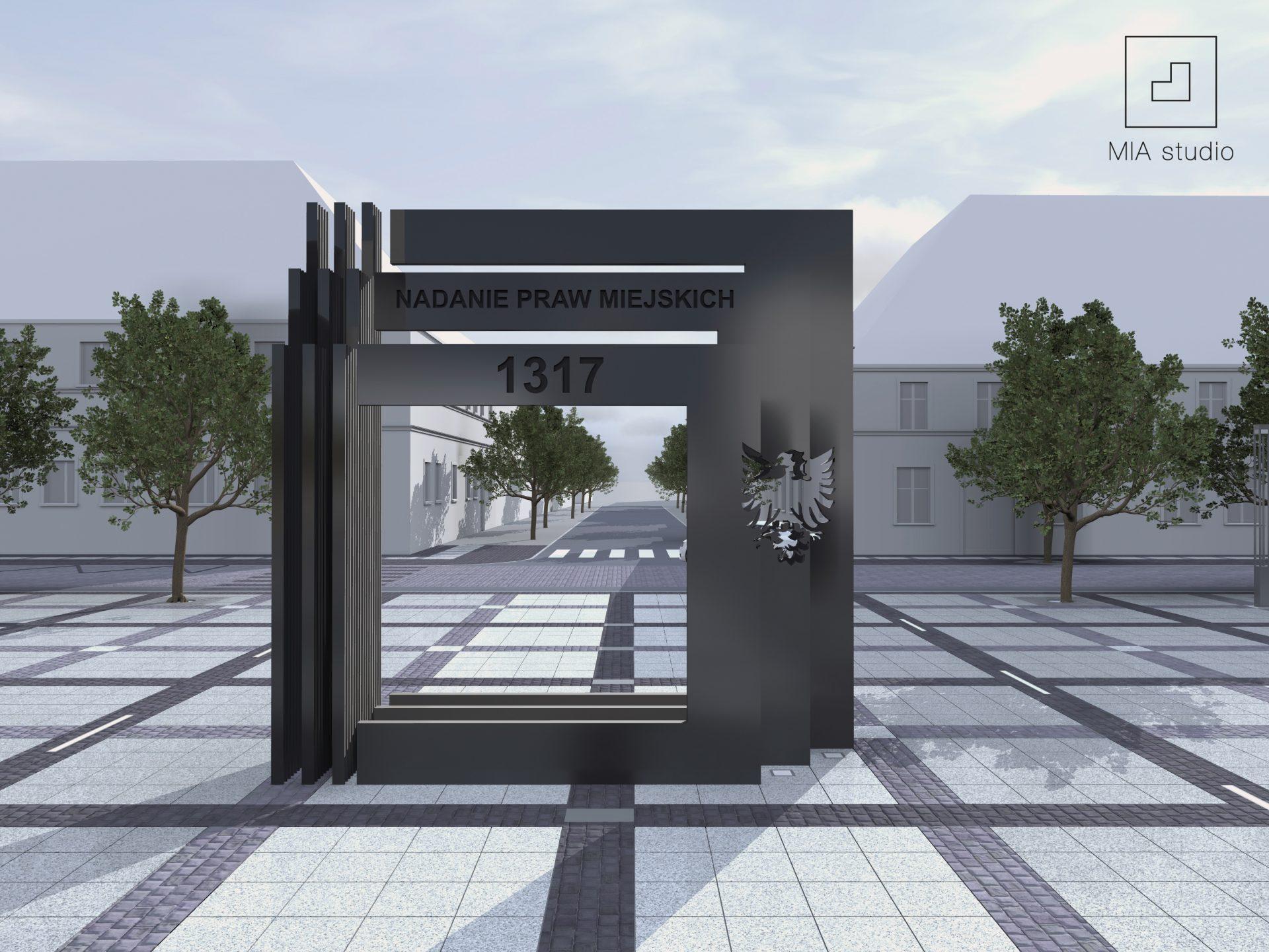 pomnik brama miasta Drezdenko