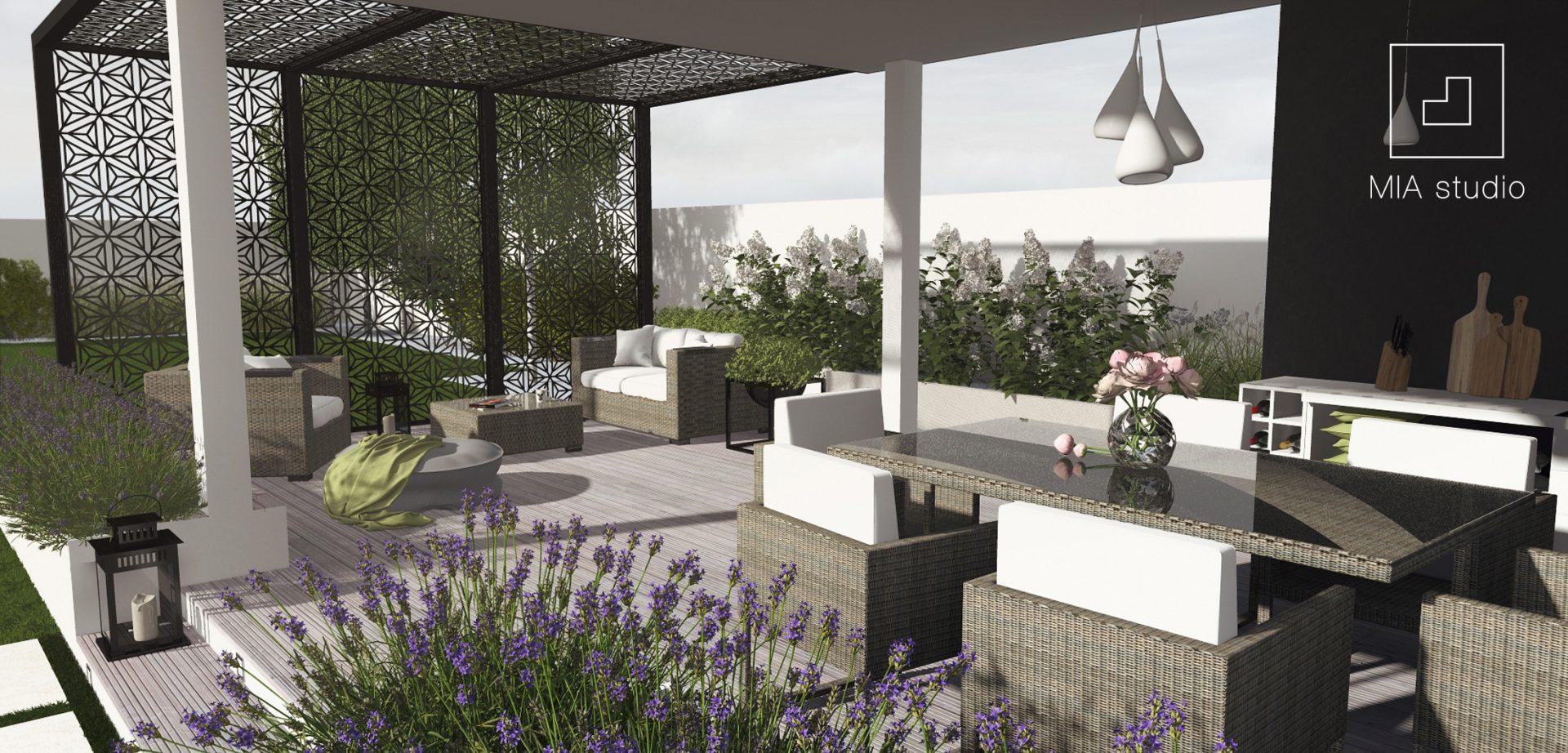 nowoczesna altana ogrodowa Garden House
