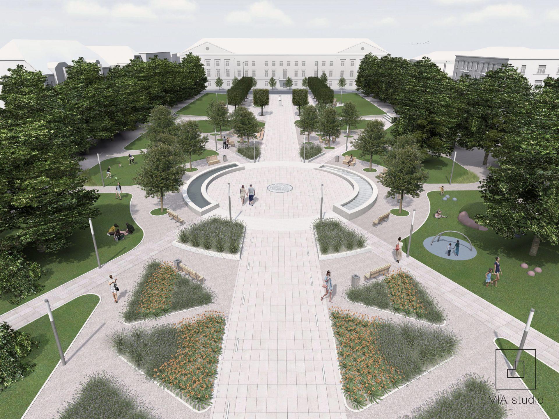 fontanna na placu