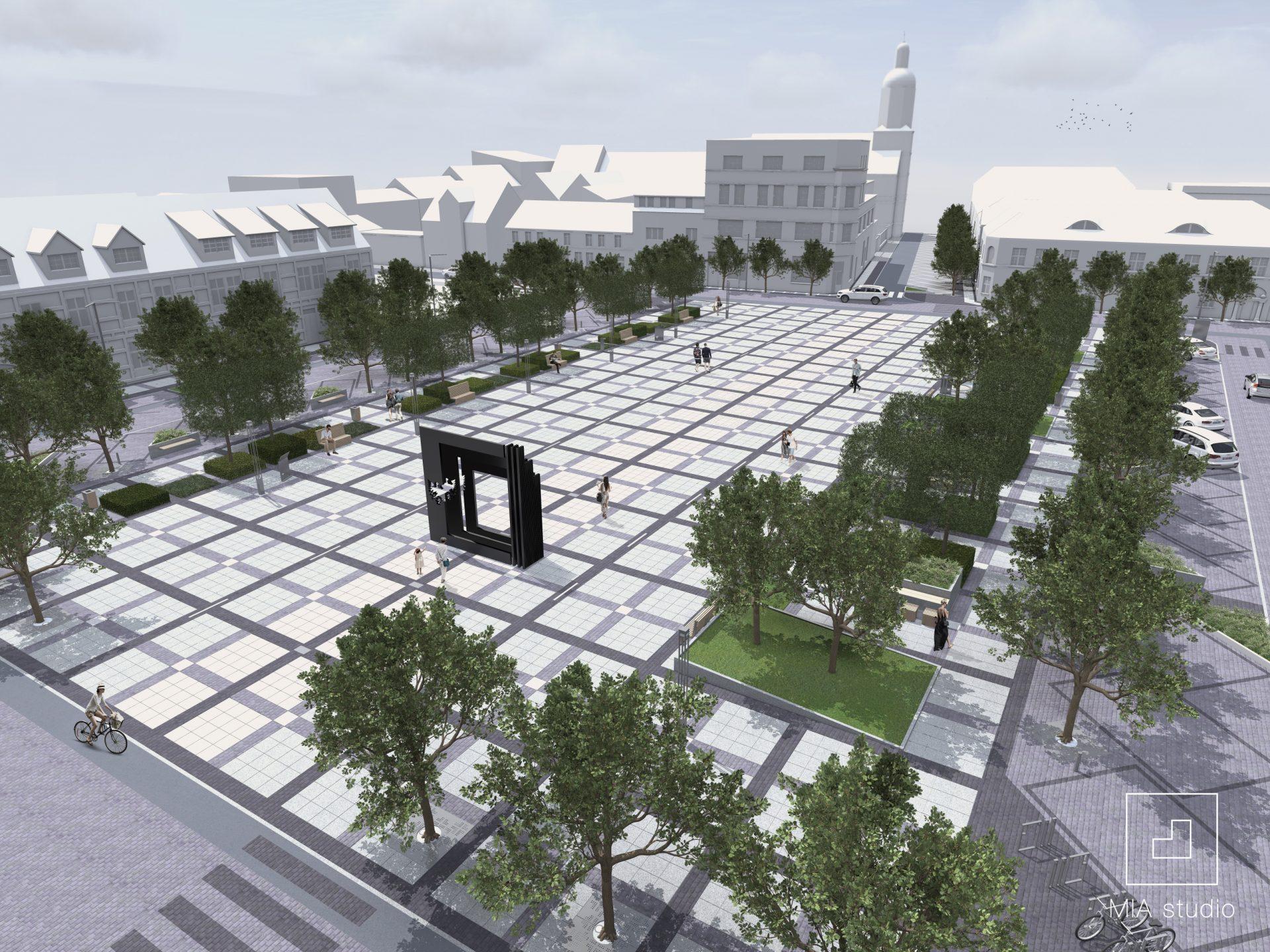Plac Wileński w Drezdenku