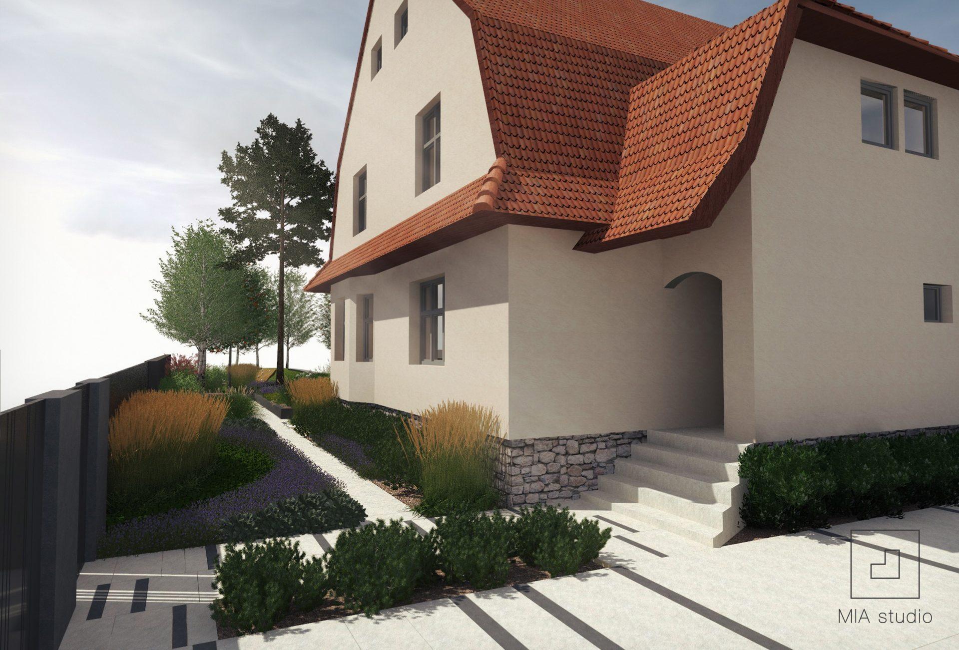 projekt ogrodu przed domem