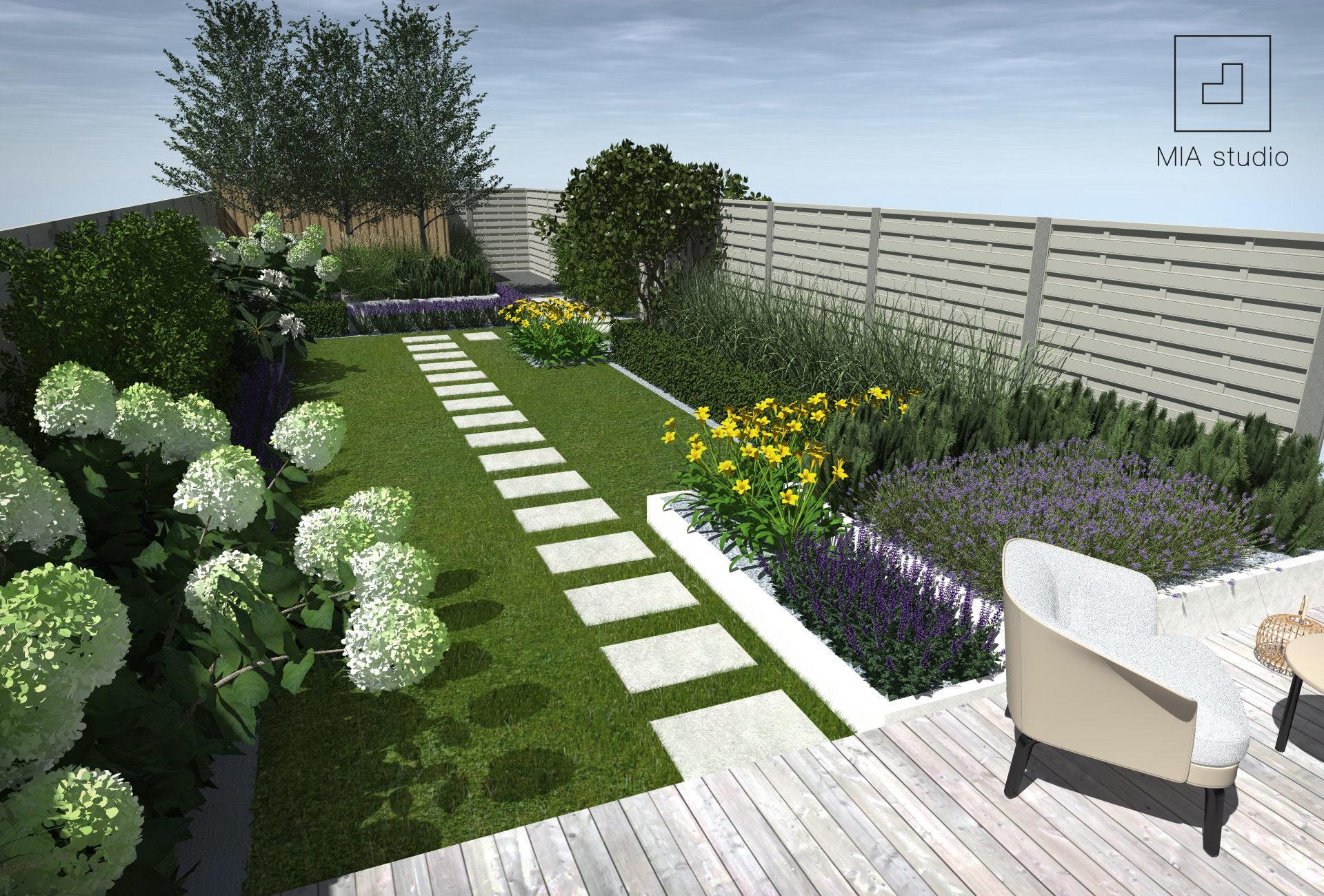 kontrast kolorystyczny w ogrodzie