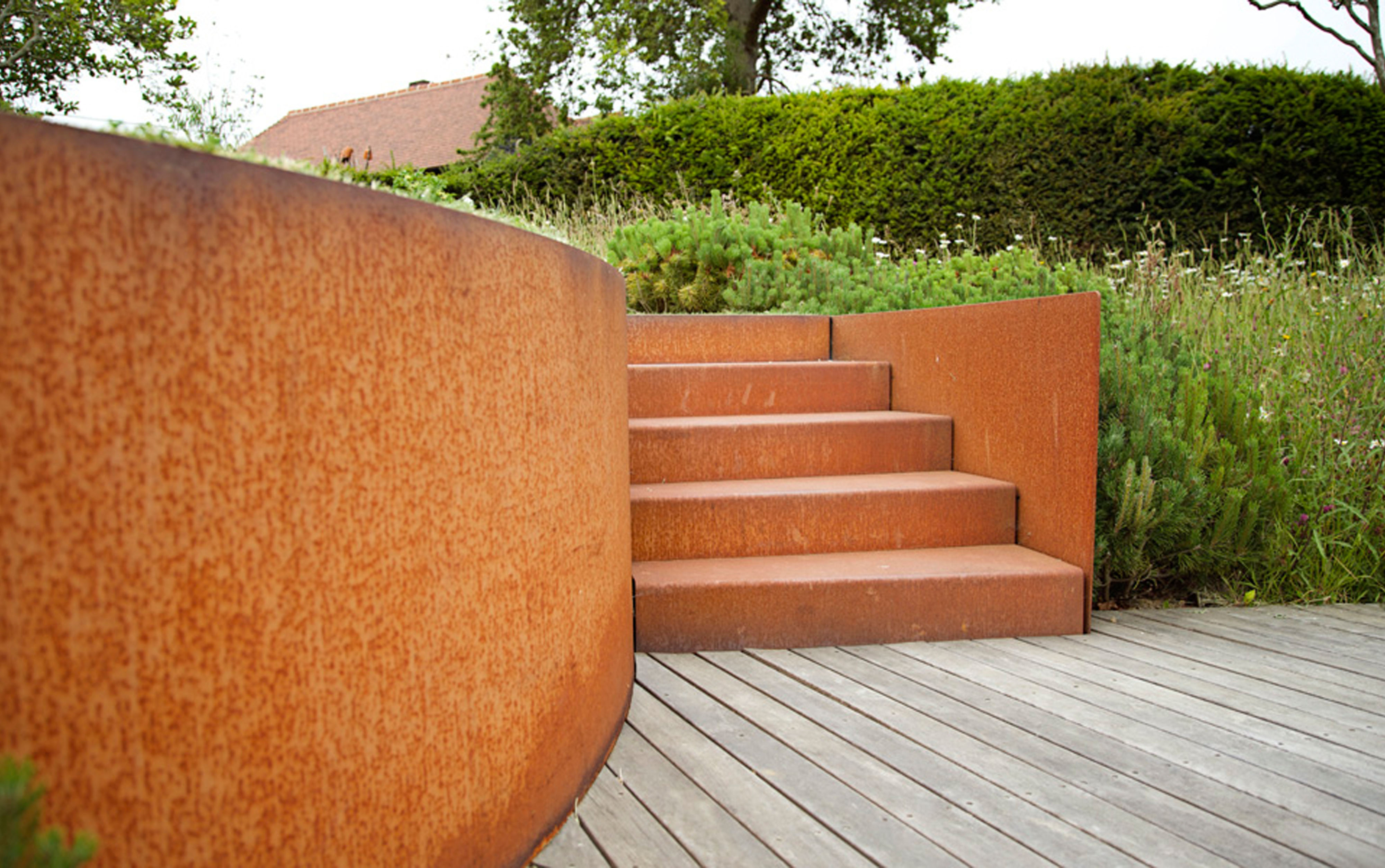schody cortenowe