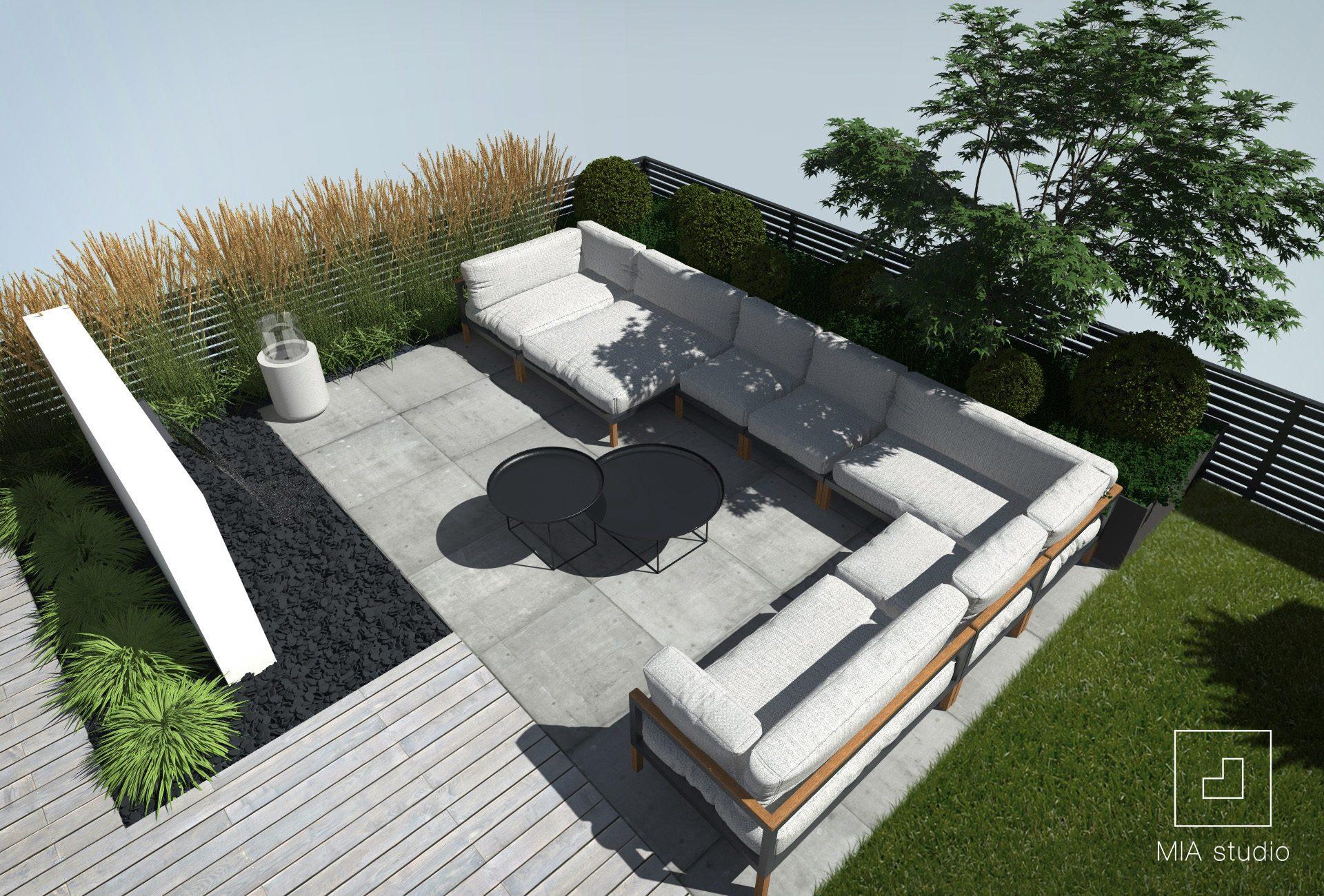 meble ogrodowe na tarasie