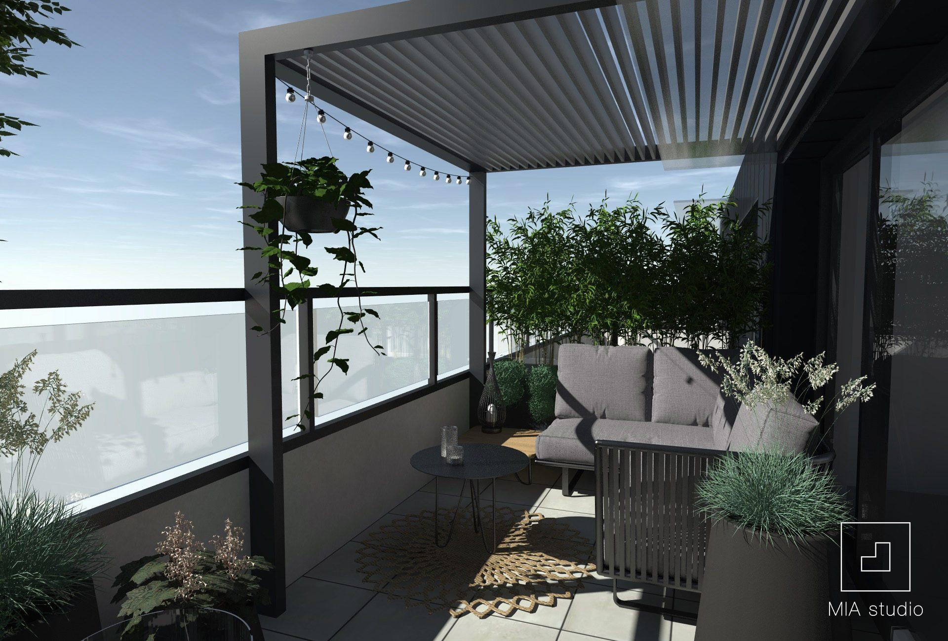 balkon z zadaszeniem