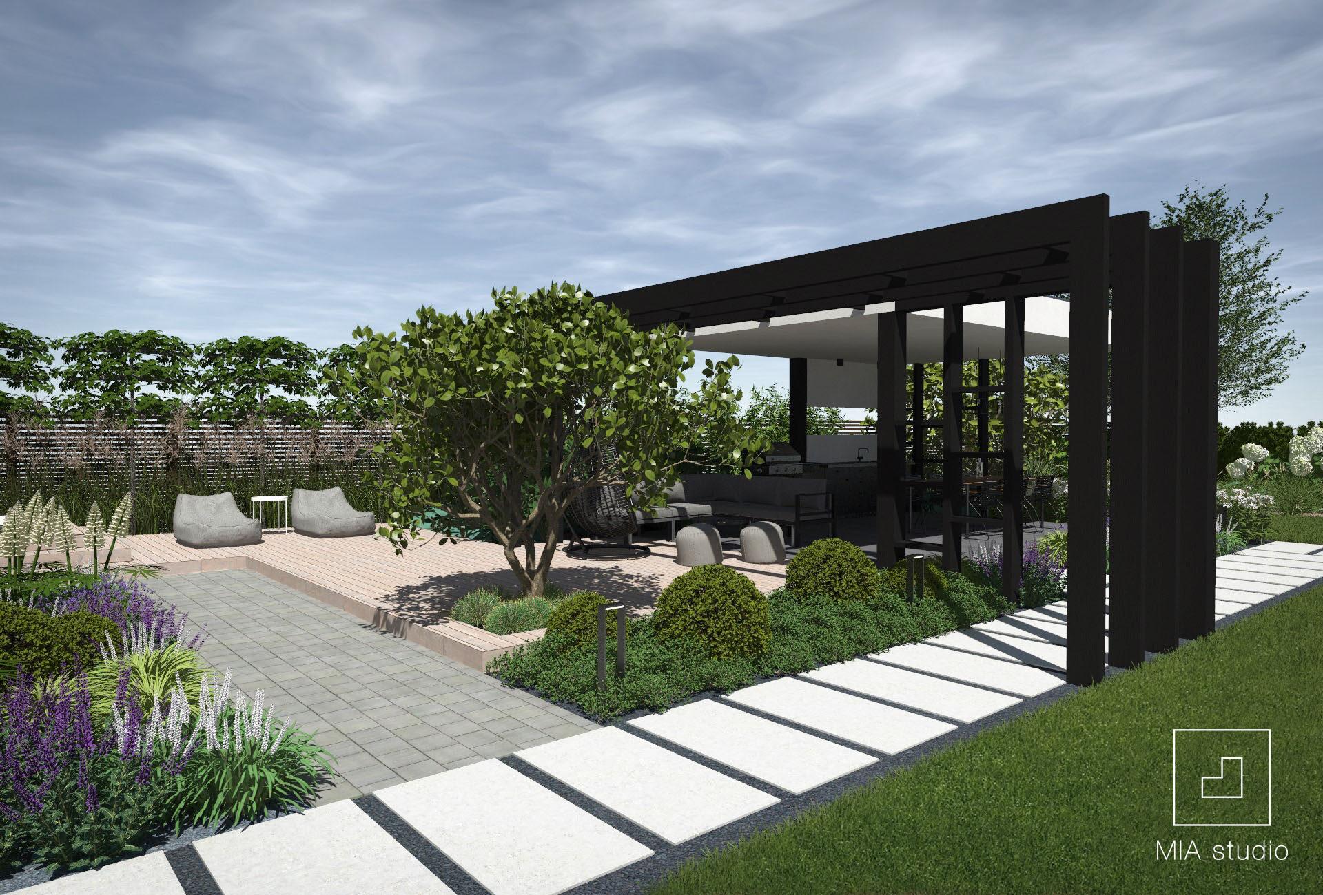 altana w ogrodzie