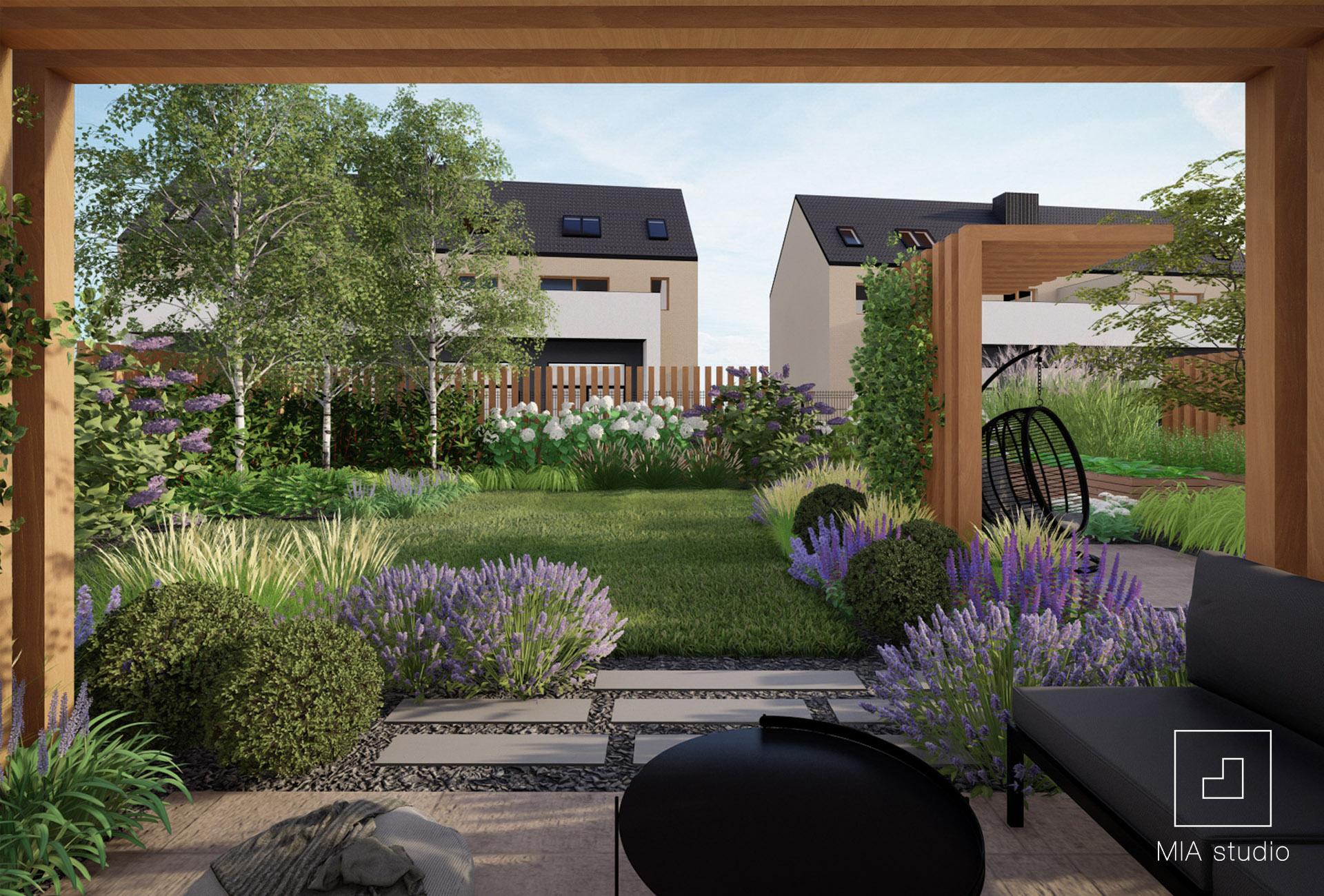 nowoczesny ogród angielski