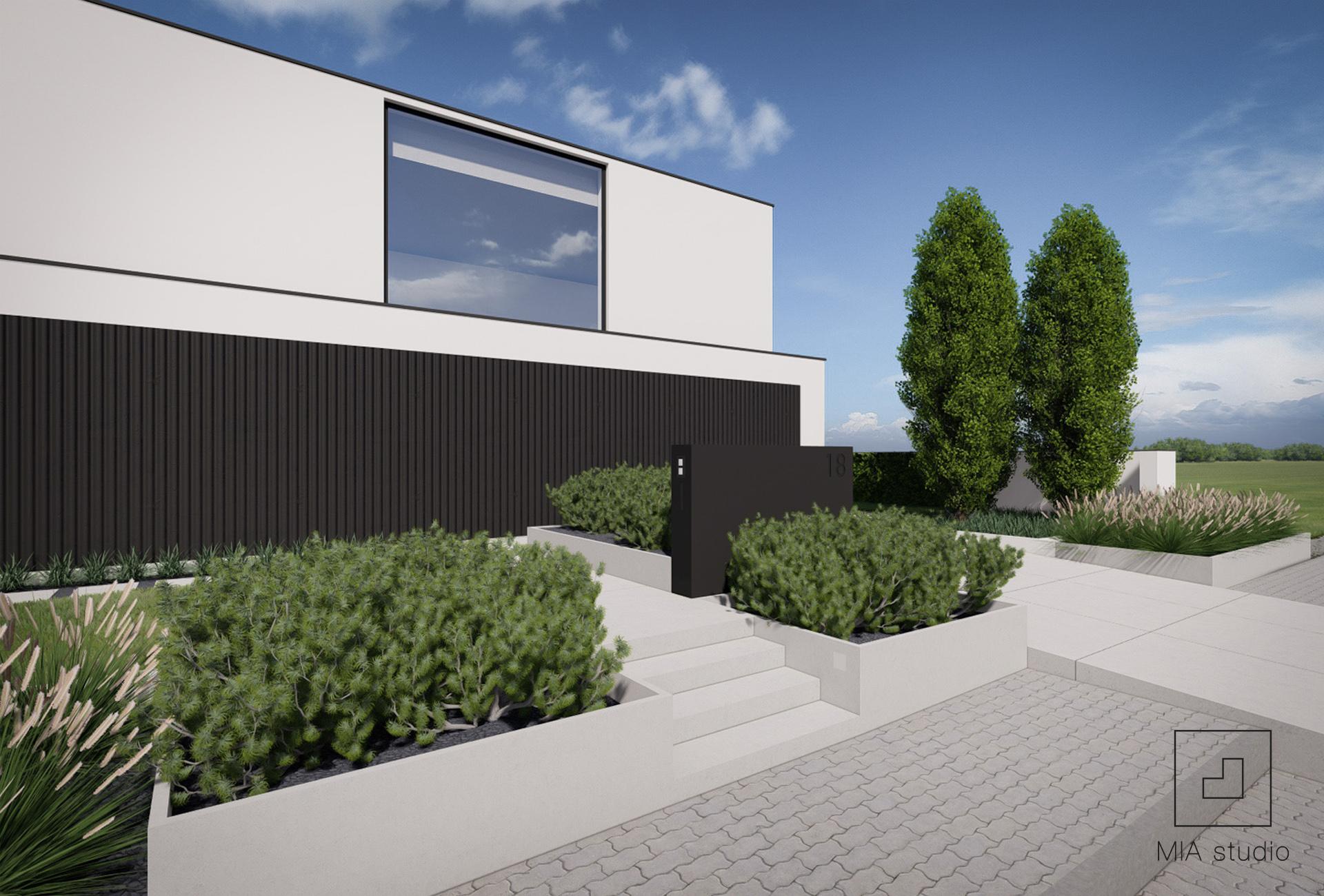 minimalistyczny ogród Poznań