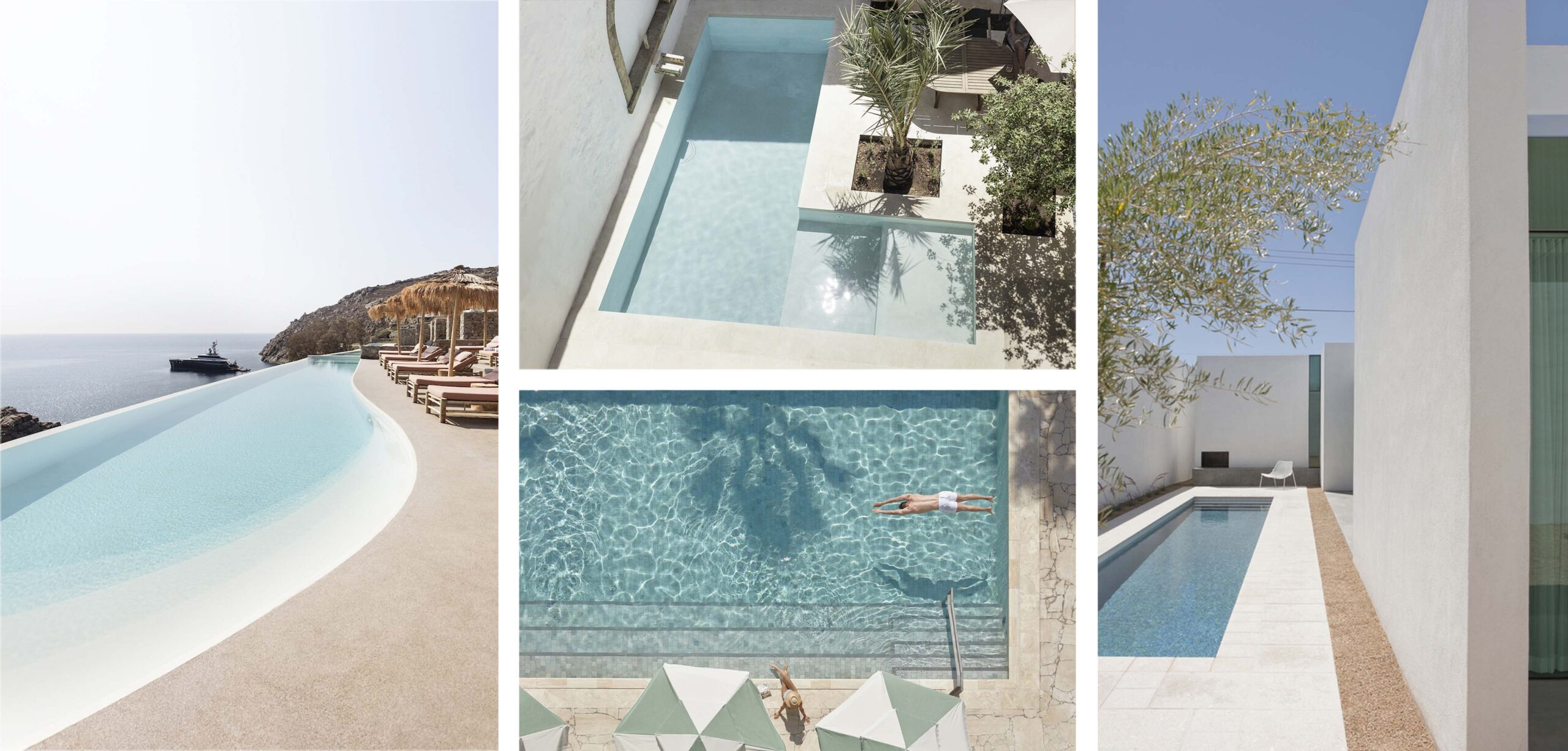 mały basen w ogrodzie