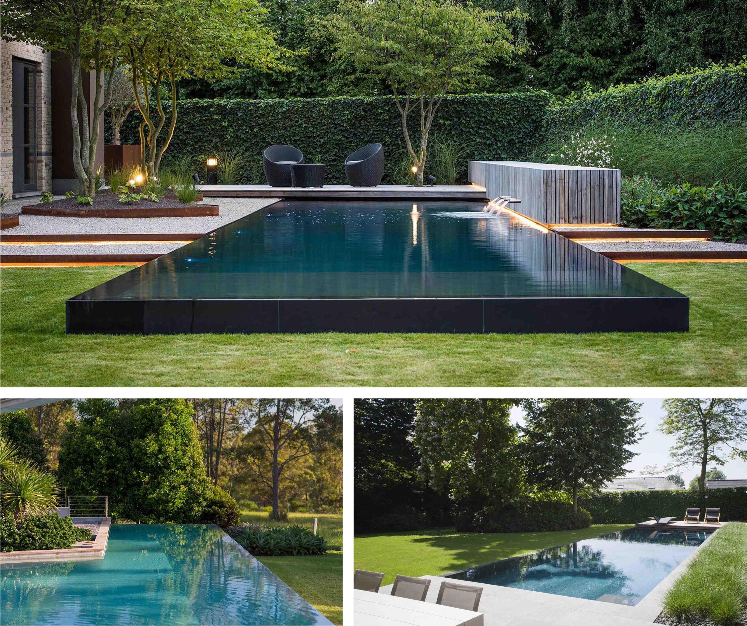 nowoczesny basen w ogrodzie