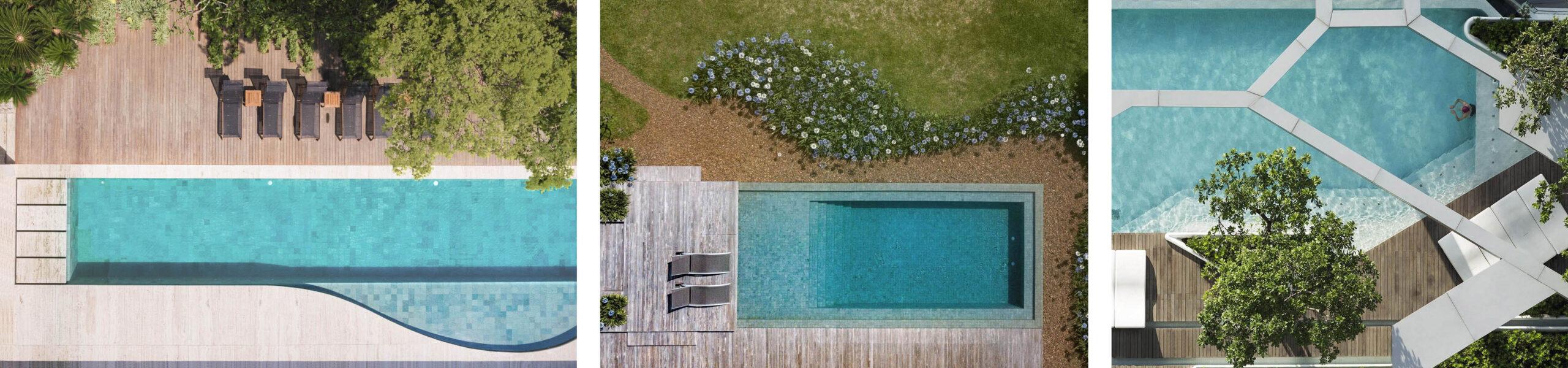 ogród z basenem projekt