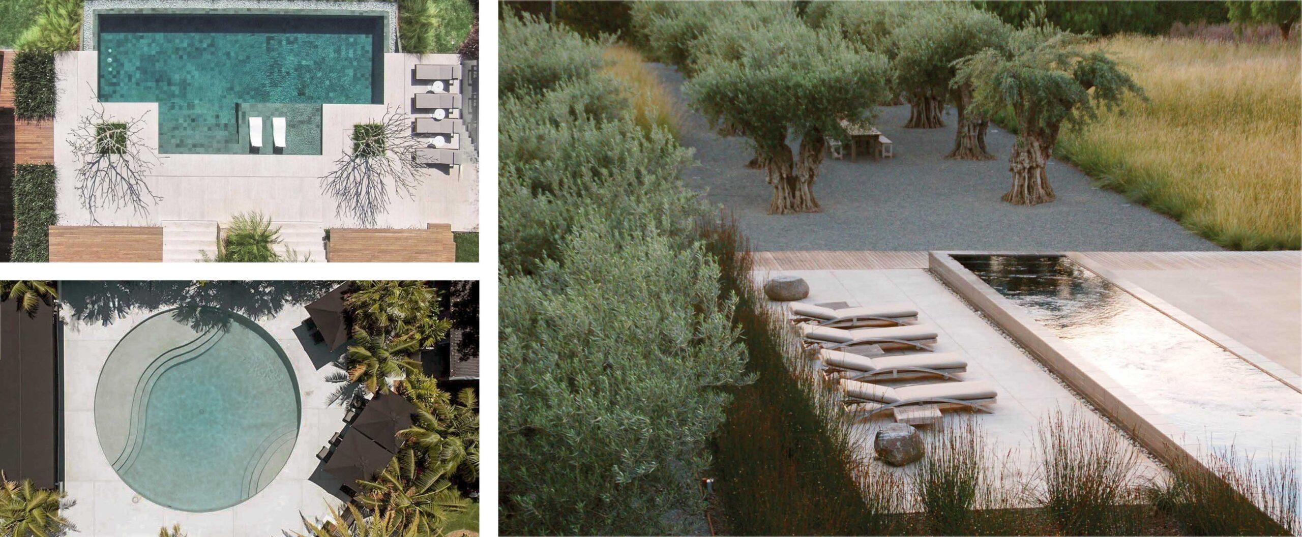 projekt ogrodu z basenem